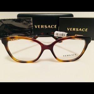 Versace Eyeglasses VE3235B 5217 Havana Brown New